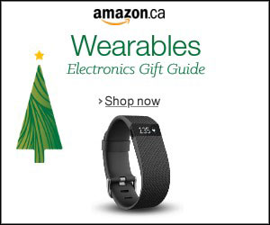 Amazon Canada holidat ad for Wearables