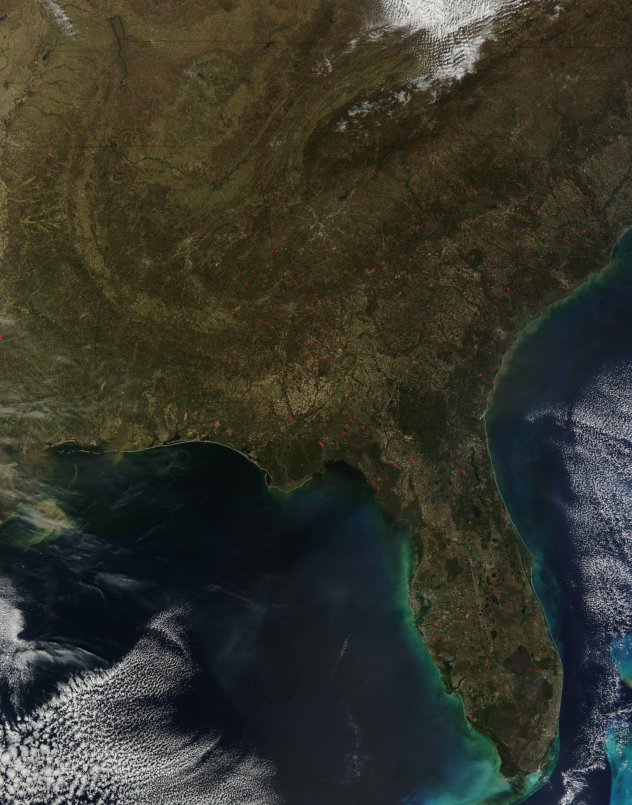 Nasa Modis Image Of The Day March 16 2013 Fires In Southeastern United States