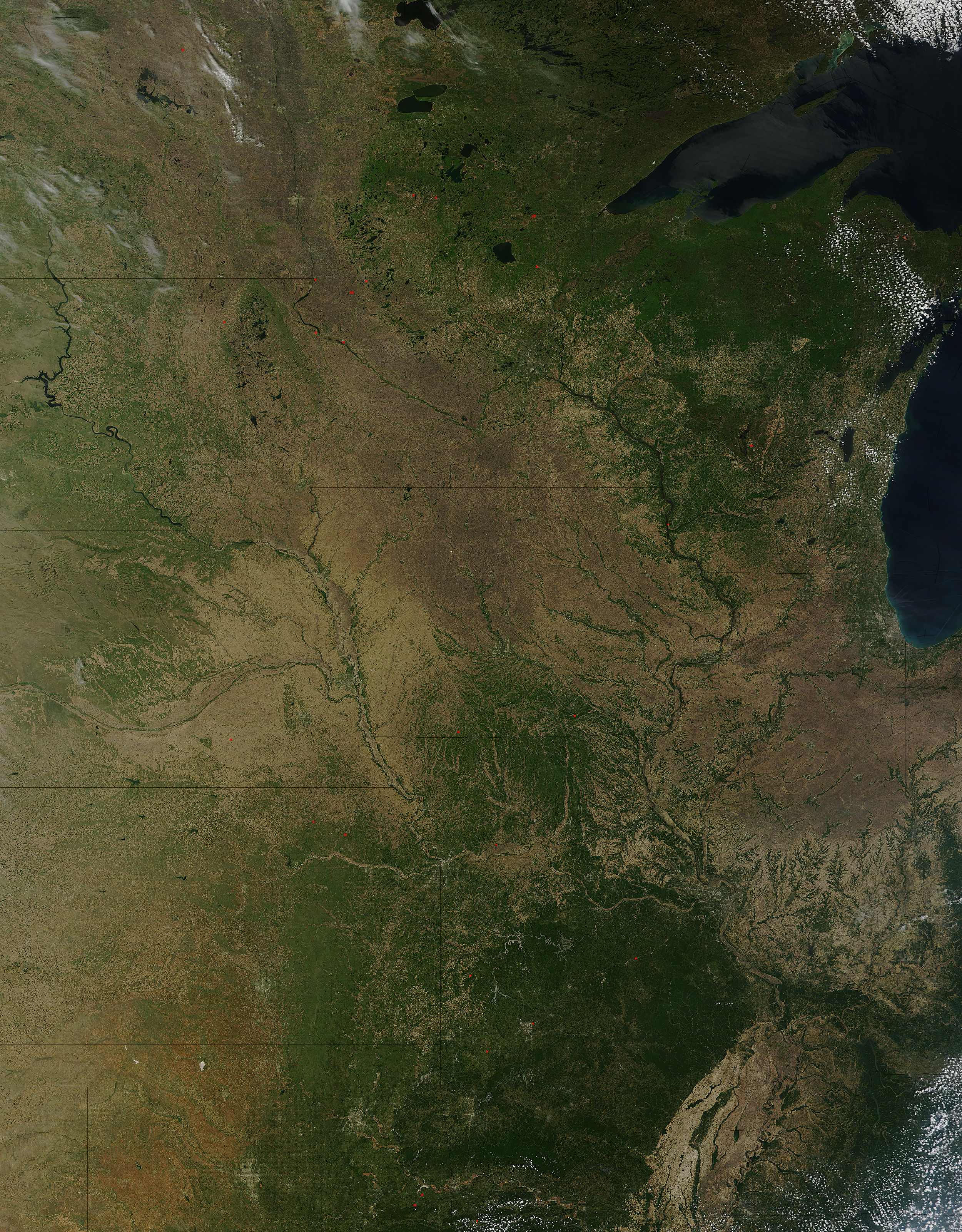 Nasa modis image of the day may 20 2012 upper midwest united