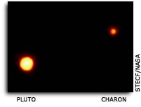 Hubble view of Pluto and Charon