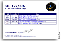 NASA STS-127 Execute Package FD02