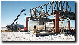 Framework of the new Amundsen-Scott South Pole station; caption is below