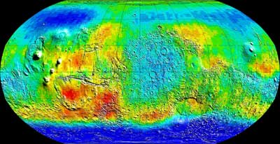 Global map of epithermal neutrons