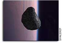 Asteroid fragments on a fast collision course with Earth