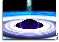 Exotic physics finds black holes could be most 'perfect,' low-viscosity fluid