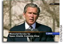 President Bush's Remarks at the Memorial Service for Columbia Astronauts