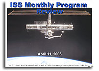 ISS Monthly Program Review