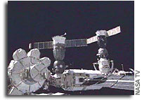 Soyuz TMA-3 Docks With ISS