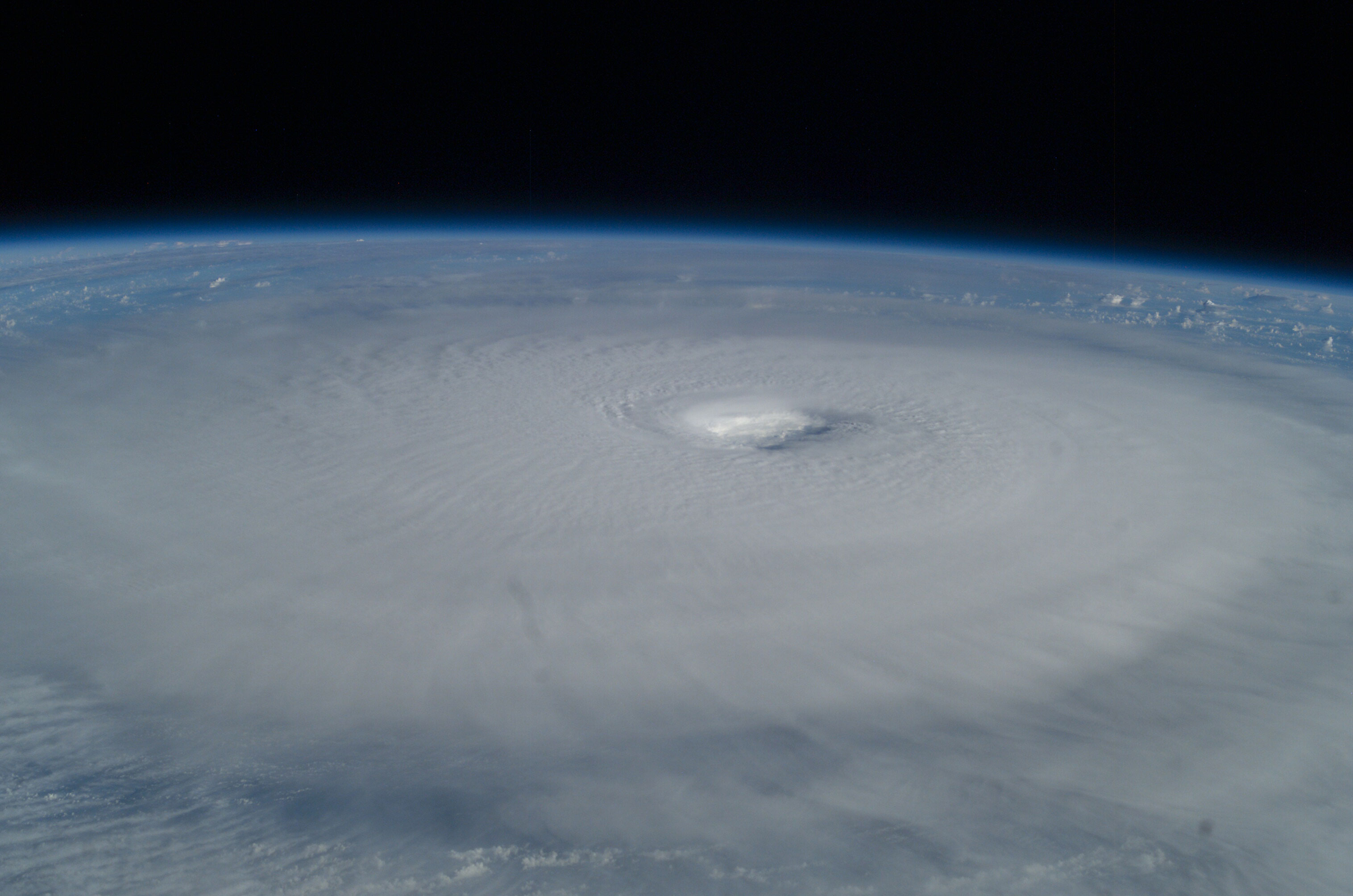 space station crew photographs of hurricane isabel