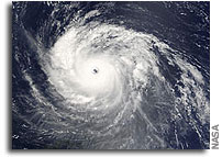 NASA Terra MODIS Image of Hurricane Isabel