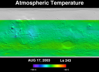 Orbit 21503 atmospheric temperature map