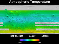 Orbit 21803 atmospheric temperature map