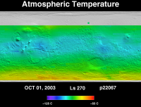 Orbit 22067 atmospheric temperature map