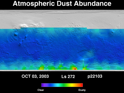 Orbit 22115dust map