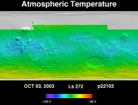 Orbit 22115atmospheric temperature map