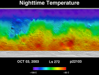 Orbit 22115nighttime surface temperature map