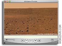 QuickTime Color VR Panorama of NASA Spirit's Landing Site on Mars