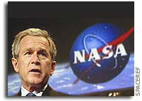 President Bush Comments on NASA, Shuttle Discovery, and Exploration