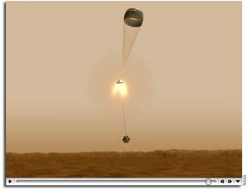 mars curiosity rover landing animation - photo #9