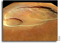 Mars Express Views the Caldera of Olympus Mons Close-up