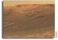 Mars Rover Arrival at Deeper Crater Provides a Tempting Eyeful