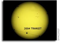 Transit of Venus Across the Sun on 8 June 2004