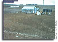 Webcam Images of Arthur Clarke Mars Greenhouse on Devon Island