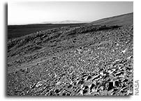 Rocks Tell Stories in Reports of NASA's Spirit Rover's First 90 Martian Days