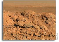 Bedrock in Mars' Gusev Crater Hints at Watery Past