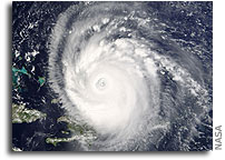 Image of Hurricane Frances by NASA SeaWIFS