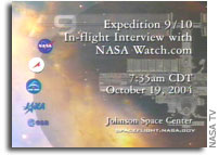 Transcript of a NASAWatch.com Interview with ISS Astronauts Fincke and Chiao
