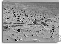 NASA's Mars Rovers Spot Water-Clue Mineral, Frost, Clouds
