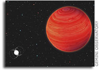 Mystery Object Neither Star Nor Brown Dwarf