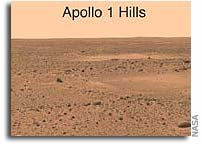 Martian Landmarks Dedicated to Apollo 1 Crew