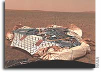 NASA Spirit Rover Photo: Empty Nest