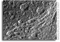 NASA Cassini Image: Surface of Dione