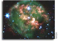 Dying Star Goes Out With a Ring