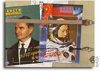 Taikonaut Yang Liwei becomes an Icon on the International Space Station