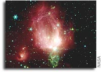 Spitzer Space Telescope Photographs a Cosmic Valentine Rose