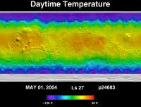 Orbit 24683daytime surface temperature map
