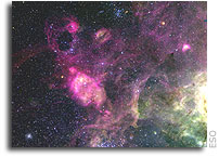 Caught in the Cobweb: Turbulent and Colourful LMC Region Imaged from La Silla