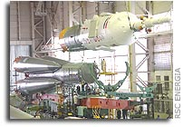 Soyuz TMA-4 Integrated with Launch Vehicle