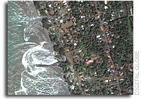 Digital Globe Image of Kalutara, Sri Lanka Shortly After Tsunami Arrival