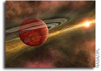Spitzer Telescope Discovers Raw Ingredients for Life in Planetary Construction Zone