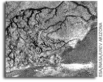 Rivers on Titan Resemble Those on Earth