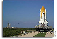 NASA Rolls Space Shuttle Discovery to Launch Complex 39B