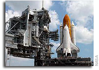 NASA's Space SHuttle Discovery Successfully Rolls Back to Launch Pad
