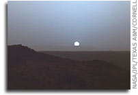 NASA Mars Rover Sunset: A Moment Frozen in Time