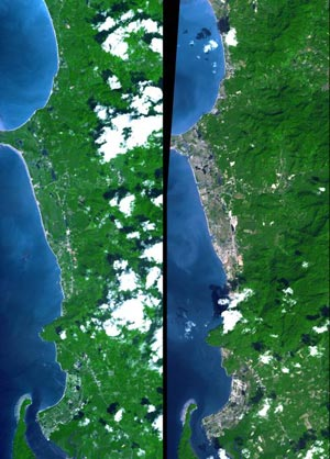 Phuket, Thailand on Dec. 31, 2004 and two years earlier