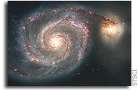 Hubble Image: The Whirlpool Galaxy (M51) and Companion Galaxy